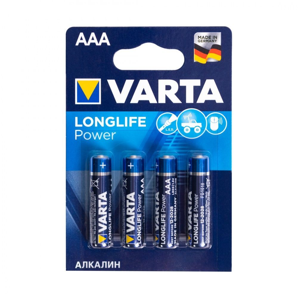 Батарейка VARTA Long Life Power Micro 1.5V - LR03/ AAA (4 шт) (4903) <4903-4>.