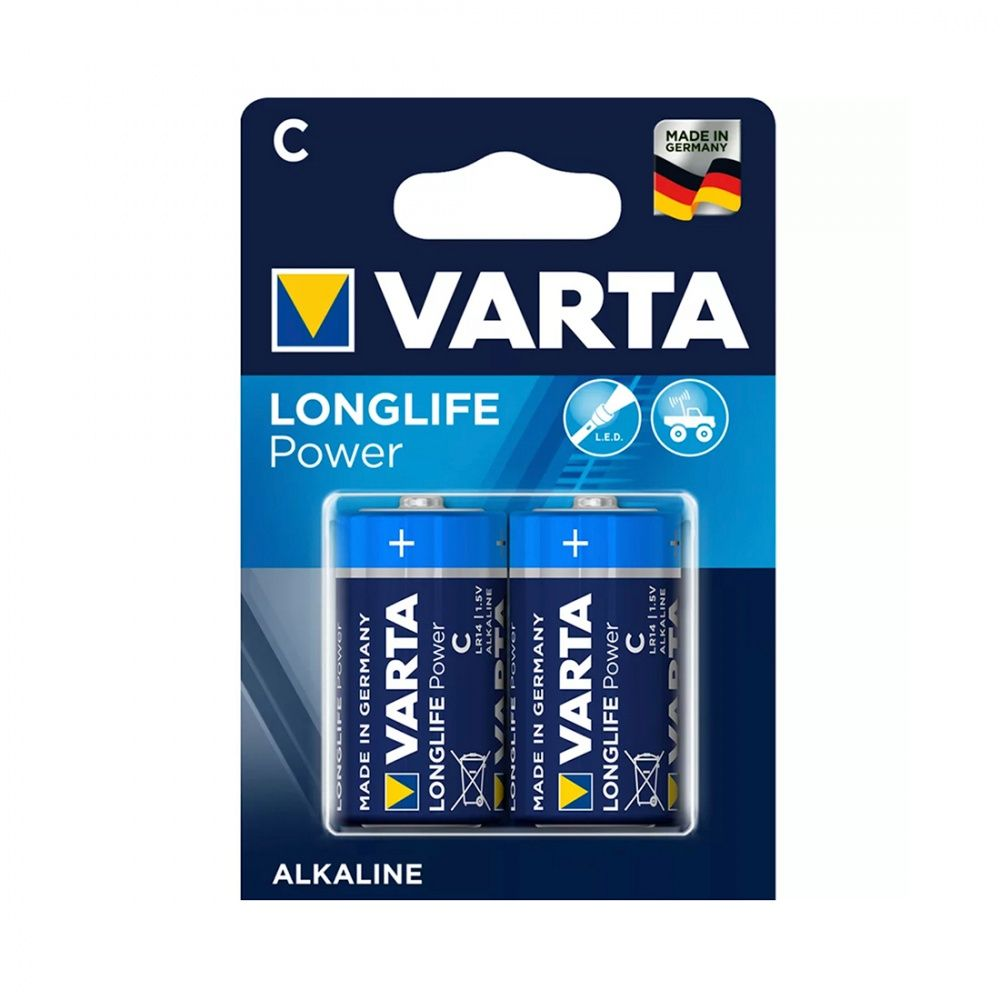 Батарейка VARTA High Energy Longlife Baby 1.5V - LR14/ C (2 шт) в блистере