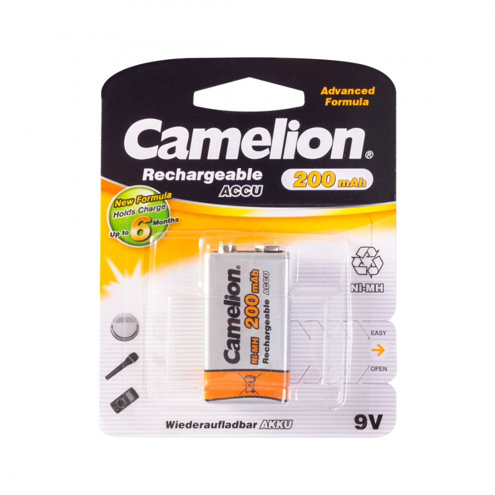 Аккумулятор CAMELION Rechargeable Ni-MH NH-9V200BP1