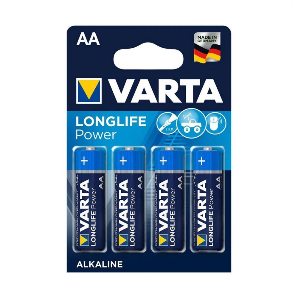 Батарейка VARTA Long Life Power Mignon 1.5V - LR6/ AA (4 шт) (4906) <4906-4>